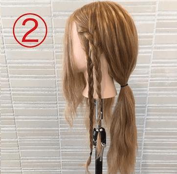 サイドの三つ編みがキュート♡浴衣スタイルにぴったりなまとめ髪2