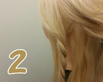 ロープ編みとくるりんぱで作る豪華なまとめ髪♪2