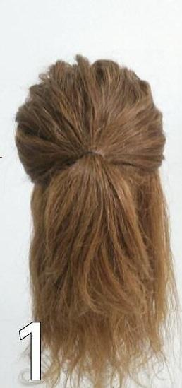 ロープ編みを利用したアップスタイルのヘアアレンジ♡