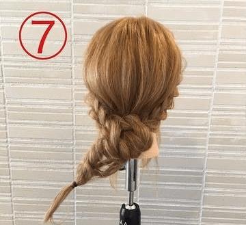 サイドの三つ編みがキュート♡浴衣スタイルにぴったりなまとめ髪7