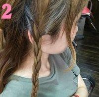 三つ編みを組み合わせて作るまとめ髪♥2