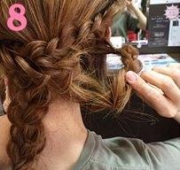 三つ編みを組み合わせて作るまとめ髪♥7