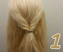 ロープ編みとくるりんぱで作る豪華なまとめ髪♪1