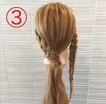 サイドの三つ編みがキュート♡浴衣スタイルにぴったりなまとめ髪3