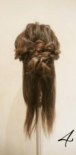 四つ編みだけで作る!ボリュームまとめ髪4
