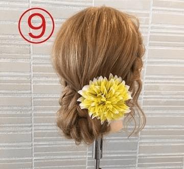 サイドの三つ編みがキュート♡浴衣スタイルにぴったりなまとめ髪9
