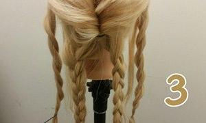 ロープ編みとくるりんぱで作る豪華なまとめ髪♪3