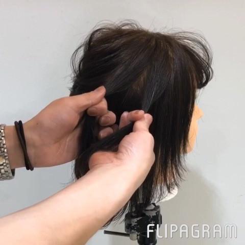 トップが可愛い!ミディアムヘアのハーフアップ☆2