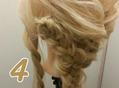 ロープ編みとくるりんぱで作る豪華なまとめ髪♪4