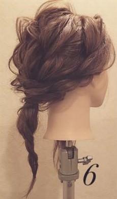 まるでブーケ✿ロープ編みで作るお呼ばれヘア6