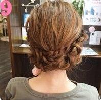 三つ編みを組み合わせて作るまとめ髪♥9