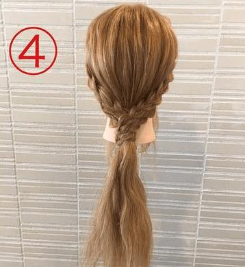 サイドの三つ編みがキュート♡浴衣スタイルにぴったりなまとめ髪4