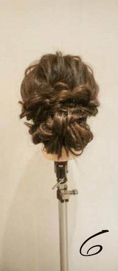 四つ編みだけで作る!ボリュームまとめ髪6