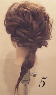 まるでブーケ✿ロープ編みで作るお呼ばれヘア5