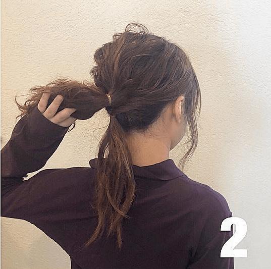 後れ毛でルーズに!秋冬にぴったりなふわふわおだんご♡ 2