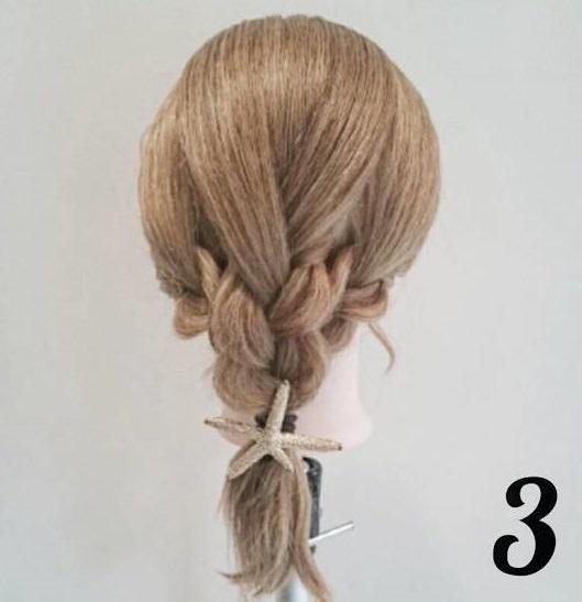 ミディアムでもできる♪編みおろしヘア♡3
