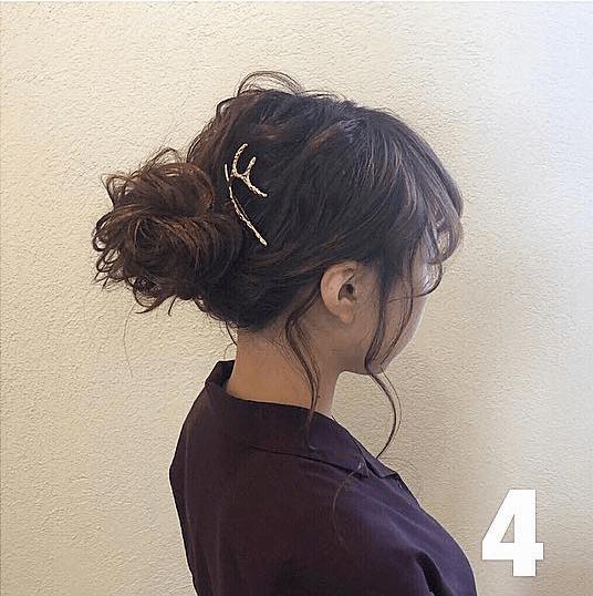 後れ毛でルーズに!秋冬にぴったりなふわふわおだんご♡ 4
