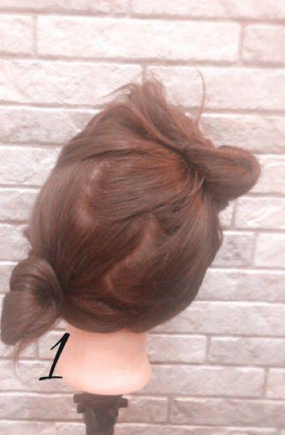 結婚式お呼ばれアレンジ☆ボリュームまとめ髪1