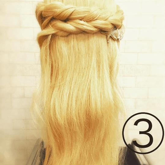 5分で叶う♡ガーリーロープ編みアレンジ 3