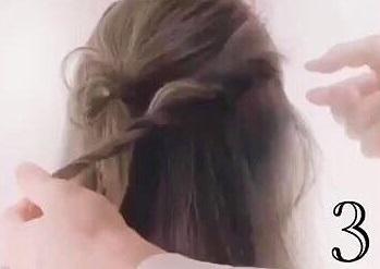 どこかオシャレ♪人と被らないワンランク上のハーフアップ☆3
