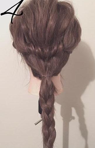 ぎゃくりんぱを使ったゆるふわまとめ髪4
