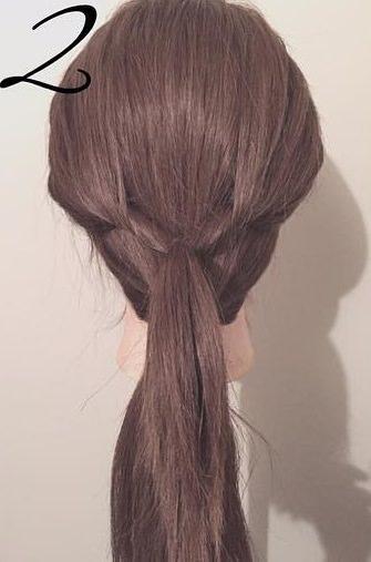 ぎゃくりんぱを使ったゆるふわまとめ髪2
