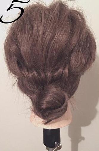 ぎゃくりんぱを使ったゆるふわまとめ髪5