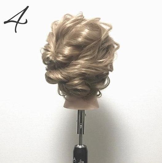 ゆるふわ可愛い♪簡単まとめ髪4