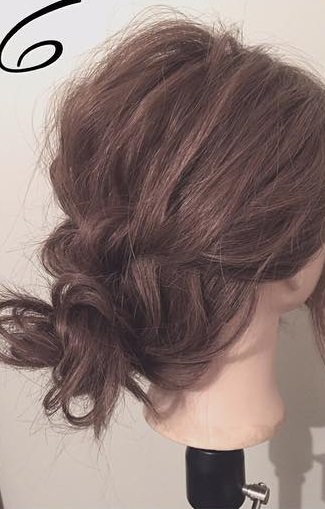 ぎゃくりんぱを使ったゆるふわまとめ髪6