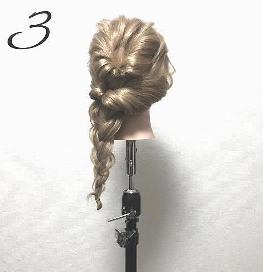 ゆるふわ可愛い♪簡単まとめ髪3