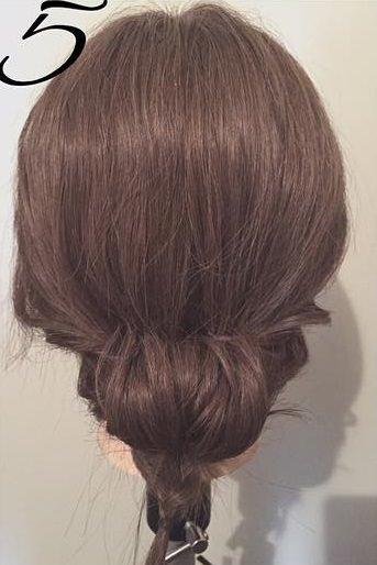髪を傷めずに大人ぽくキマル♪まとめ髪5