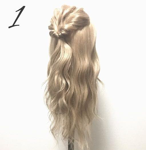 ゆるふわ可愛い♪簡単まとめ髪1