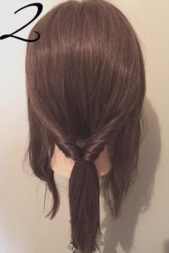髪を傷めずに大人ぽくキマル♪まとめ髪2
