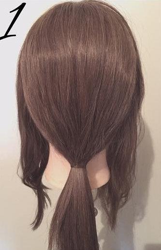 髪を傷めずに大人ぽくキマル♪まとめ髪1
