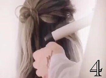 どこかオシャレ♪人と被らないワンランク上のハーフアップ☆4