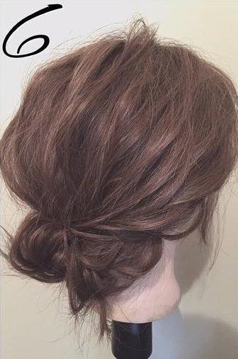 髪を傷めずに大人ぽくキマル♪まとめ髪6