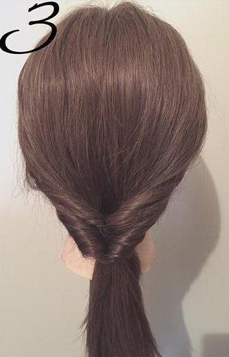 髪を傷めずに大人ぽくキマル♪まとめ髪3