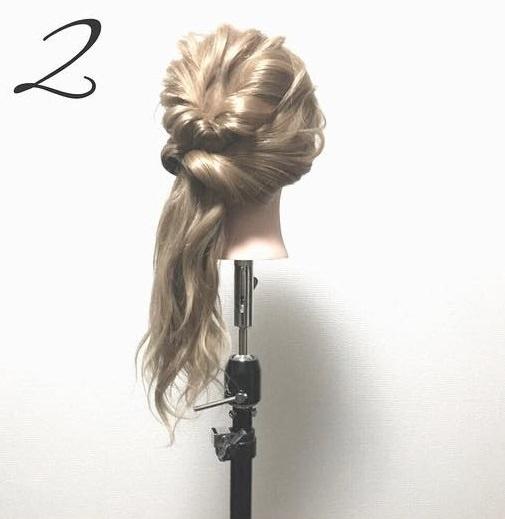 ゆるふわ可愛い♪簡単まとめ髪2
