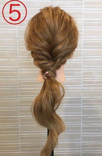 春っぽくて可愛い♡ふんわりまとめ髪5