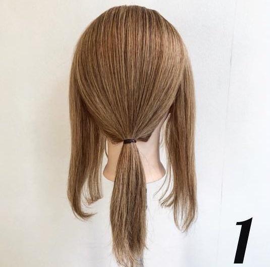 簡単モテヘア☆三つ編みローポニアレンジ1