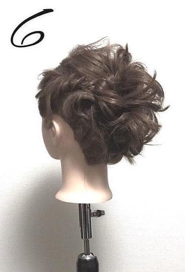 ショートボブでもできる♡ねじりまとめ髪6