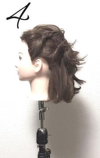 ショートボブでもできる♡ねじりまとめ髪4