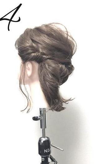 髪が短くても大丈夫!こなれ感たっぷりのアップスタイル☆4