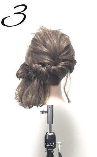 髪が短くても大丈夫!こなれ感たっぷりのアップスタイル☆3