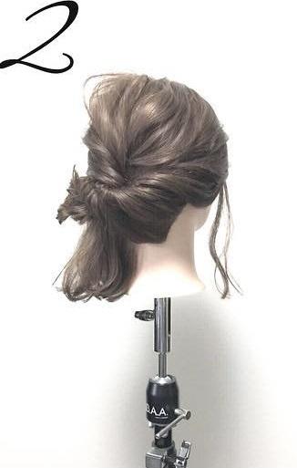 髪が短くても大丈夫!こなれ感たっぷりのアップスタイル☆2
