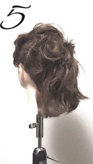 ショートボブでもできる♡ねじりまとめ髪5