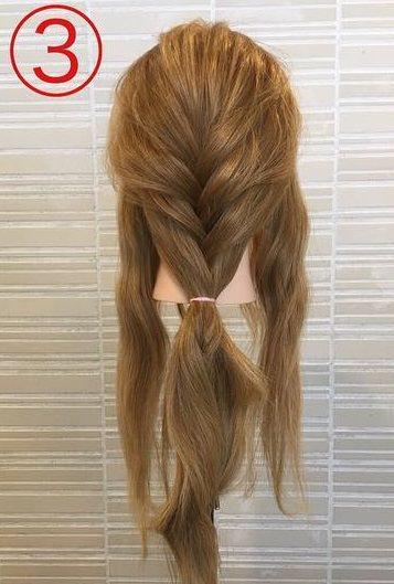 春っぽくて可愛い♡ふんわりまとめ髪3