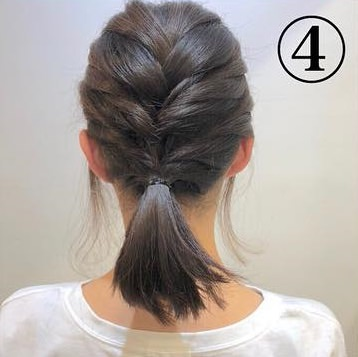 ショートヘアでも可愛くこなれ感が出せる◎三つ編みだけの簡単アレンジ4