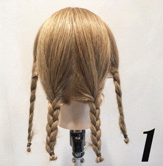 憧れの素敵なレディになれちゃう♪三つ編みだけでつくるまとめ髪アレンジ1