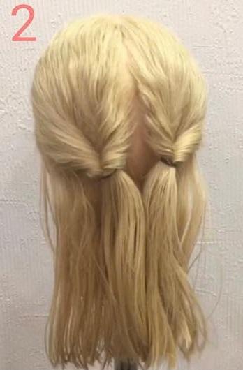 自慢したくなっちゃうくらいの可愛さ♡三つ編みで作るスッキリまとめ髪アレンジ2